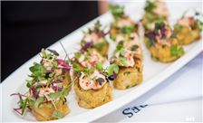 Crab Cakes Being Served - Catering