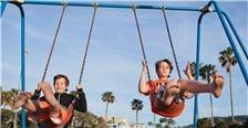 Kids Swing at Kellogg Park