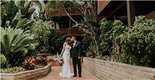 Wedding Photo at La Jolla Shores Hotel Garden Patio