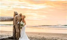 La Jolla Shores Hotel - Bride and Groom on the Beach