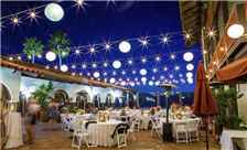 Patio Wedding Reception at Night - True Photography
