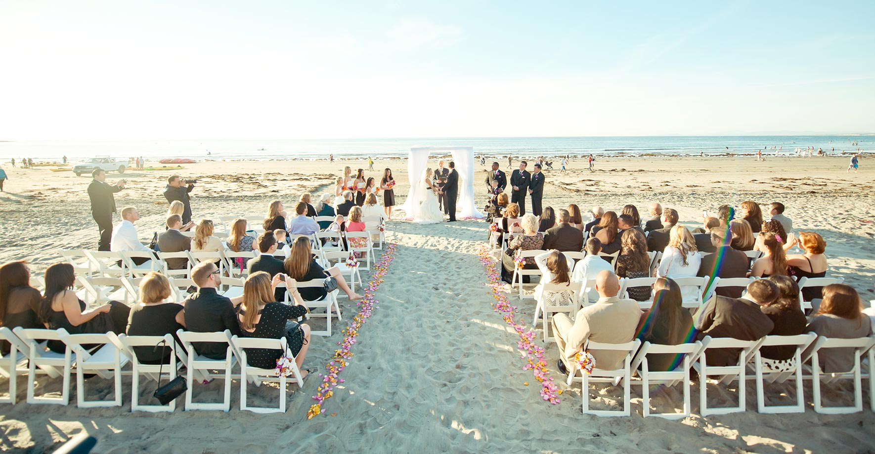 La Jolla Ss Hotel Beach Wedding Ceremony