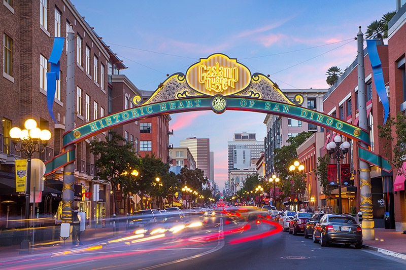 Gaslamp Quarter at California