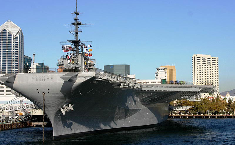 The USS Midway in San Diego