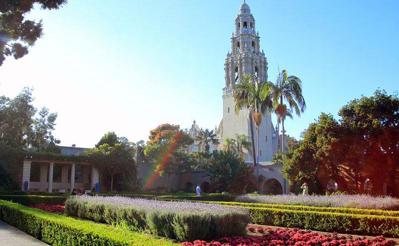 Balboa Park gardens in San Diego