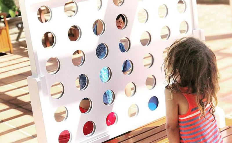 Kids playing games at La Jolla Shores Hotel Summer Days