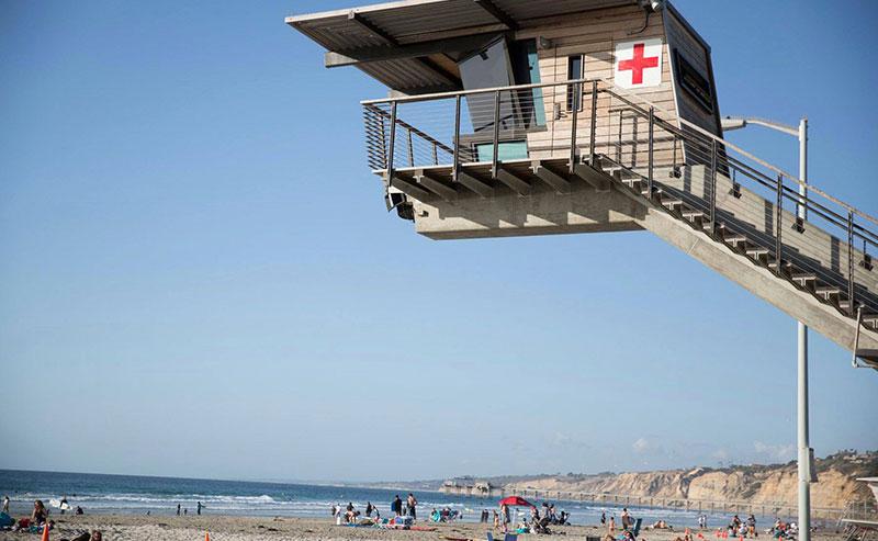 Lifeguard tower at La Jolla Shores beach