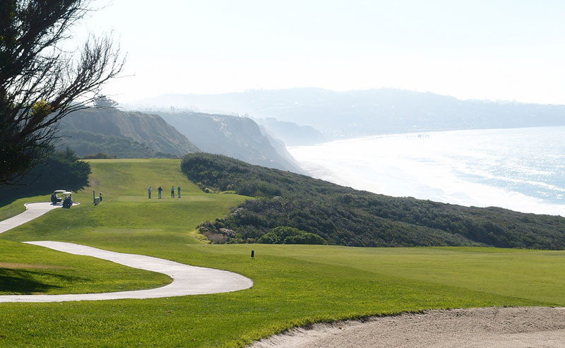 Torrey Pines Golf Course overlooking the ocean