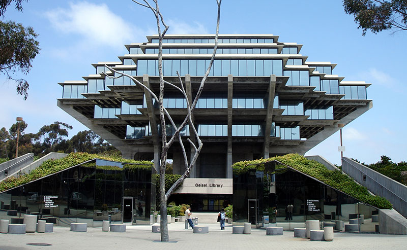 An image of the Geisel Library building at USCD