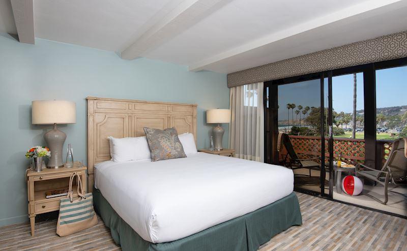 La Jolla Shores Hotel ADA accessible coastal view room view to balcony