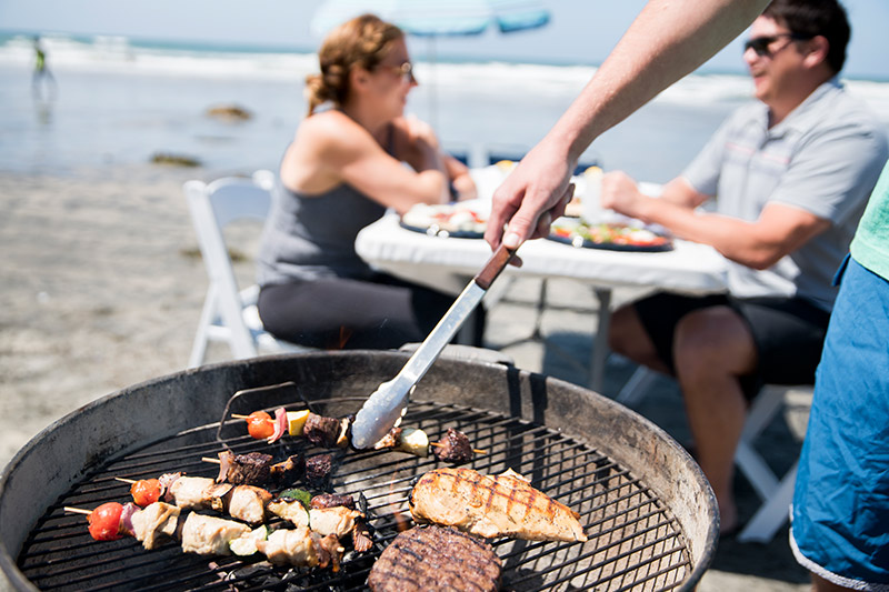 Beach BBQ Cookouts at California Hotel
