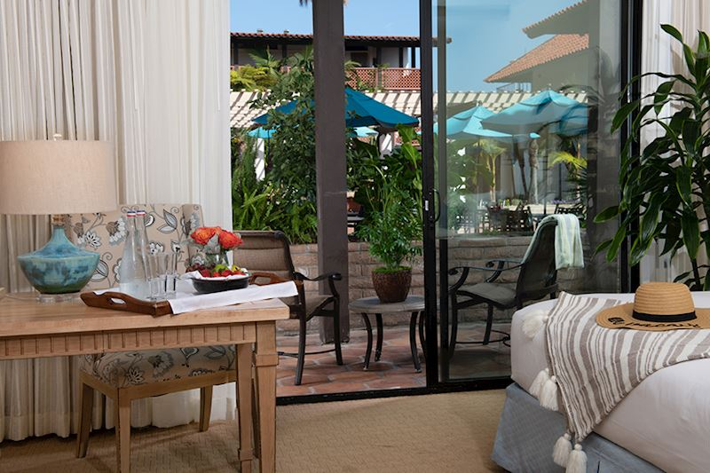 Garden Patio with Kitchenette at La Jolla Shores Hotel California